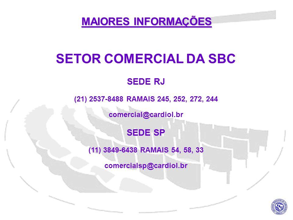 SETOR COMERCIAL DA SBC MAIORES INFORMAÇÕES SEDE RJ SEDE SP