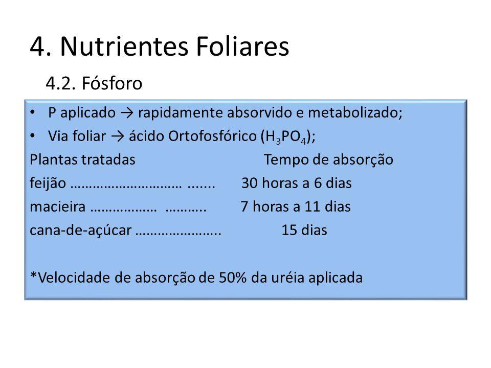 4. Nutrientes Foliares 4.2. Fósforo