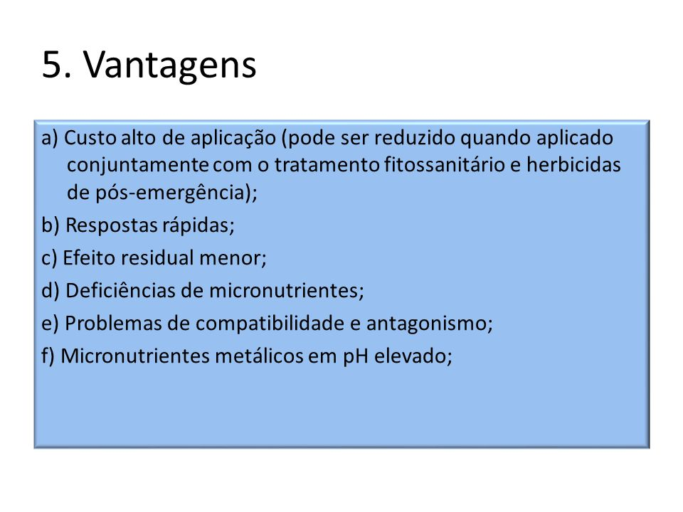 5. Vantagens