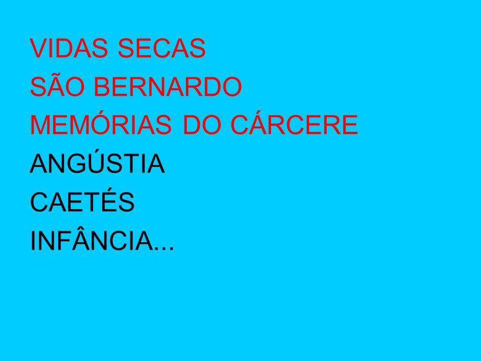 VIDAS SECAS SÃO BERNARDO MEMÓRIAS DO CÁRCERE ANGÚSTIA CAETÉS INFÂNCIA...