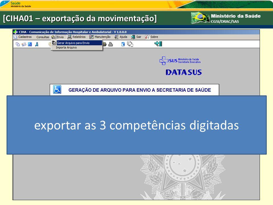 exportar as 3 competências digitadas
