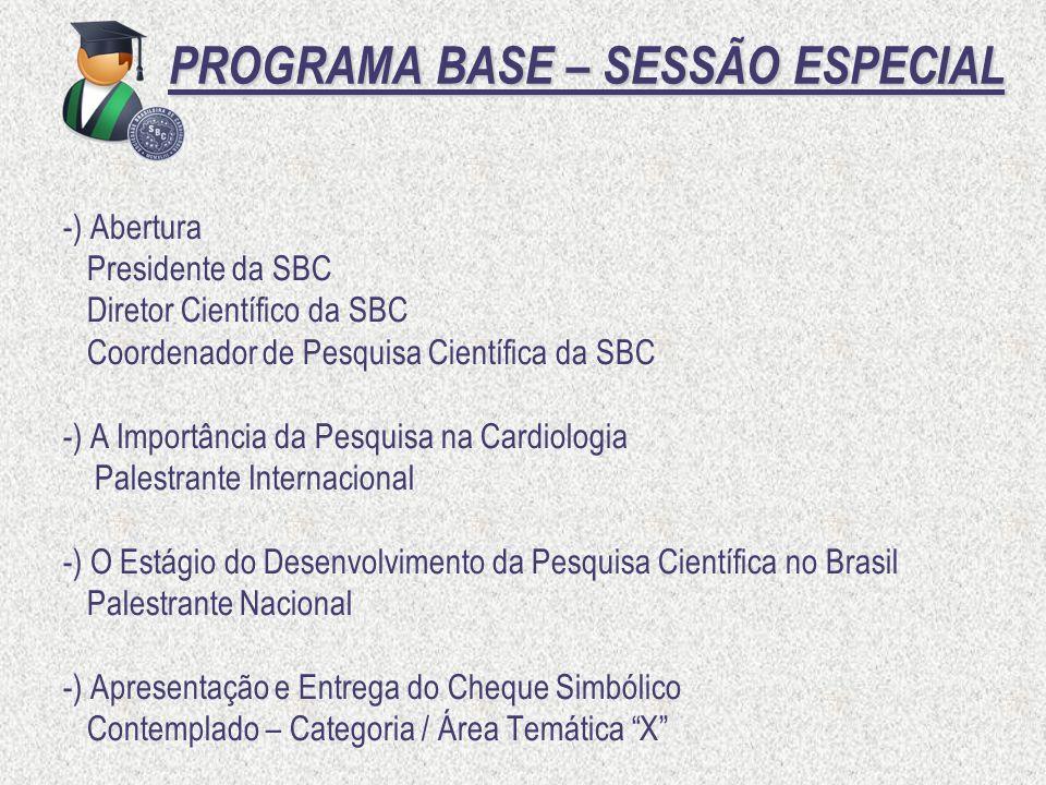 PROGRAMA BASE – SESSÃO ESPECIAL