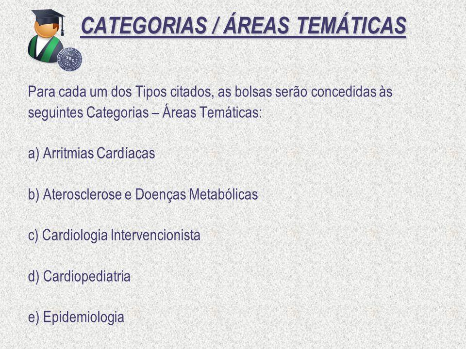CATEGORIAS / ÁREAS TEMÁTICAS