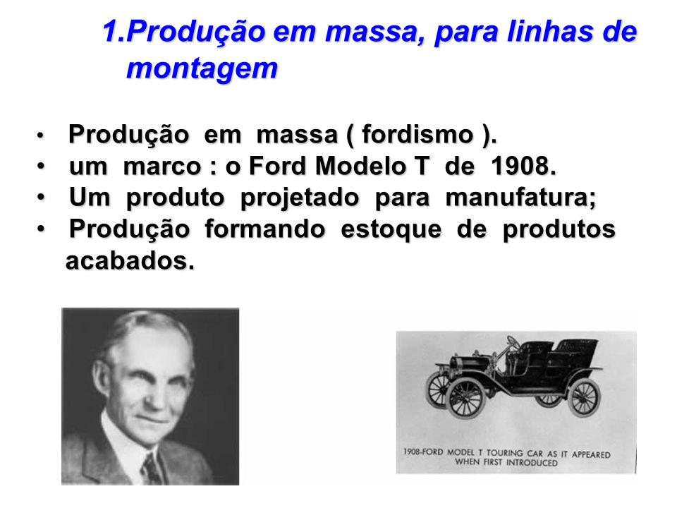 Produção em massa, para linhas de montagem