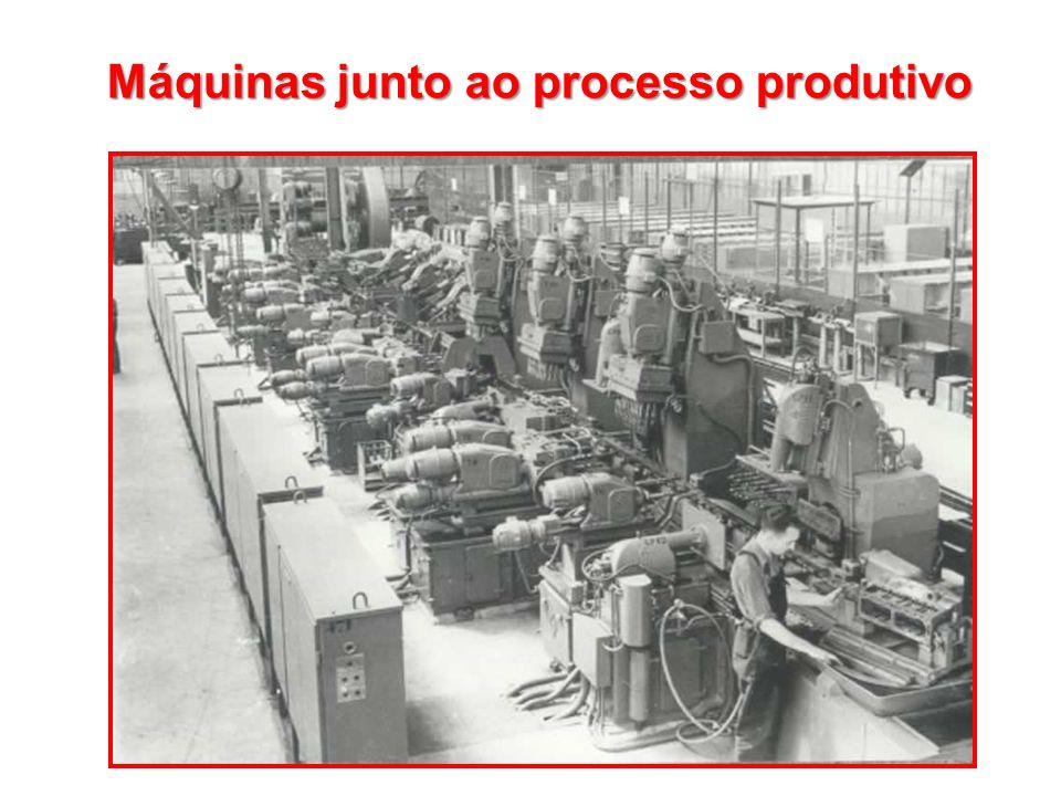 Máquinas junto ao processo produtivo