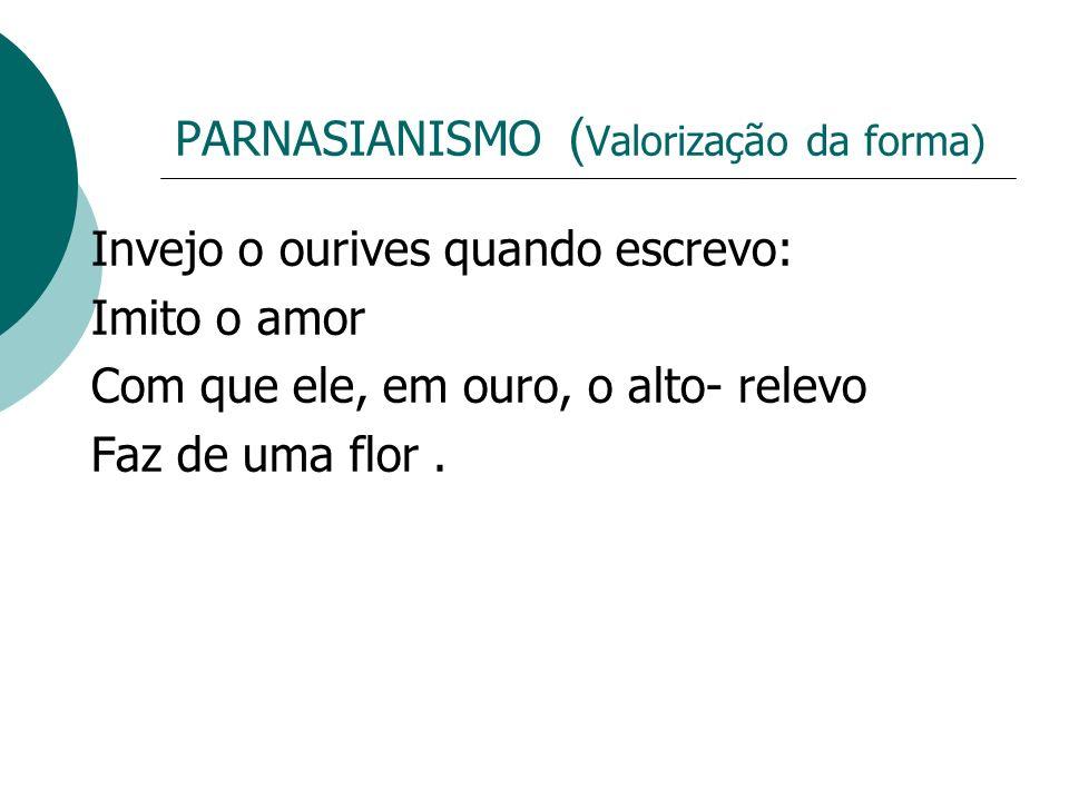 PARNASIANISMO (Valorização da forma)