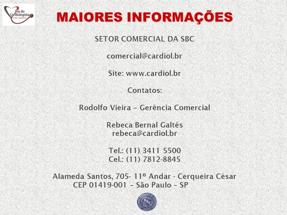 rebeca@cardiol.br Tel.: (11) 3411 5500