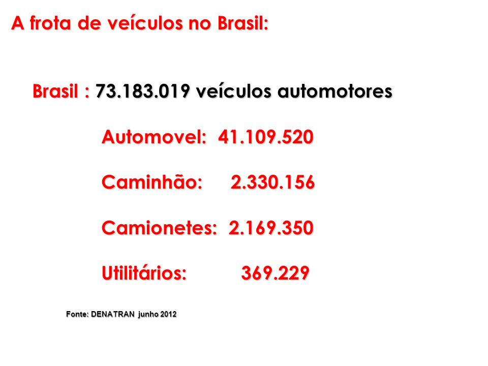 A frota de veículos no Brasil: