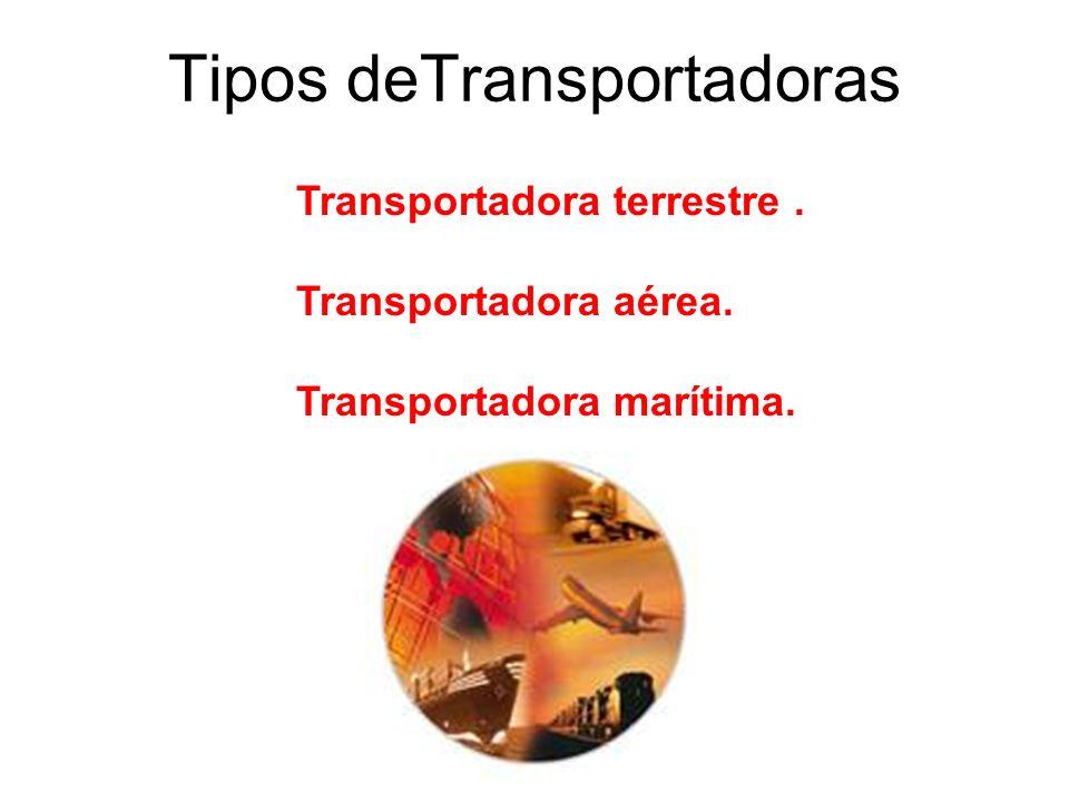 Tipos deTransportadoras