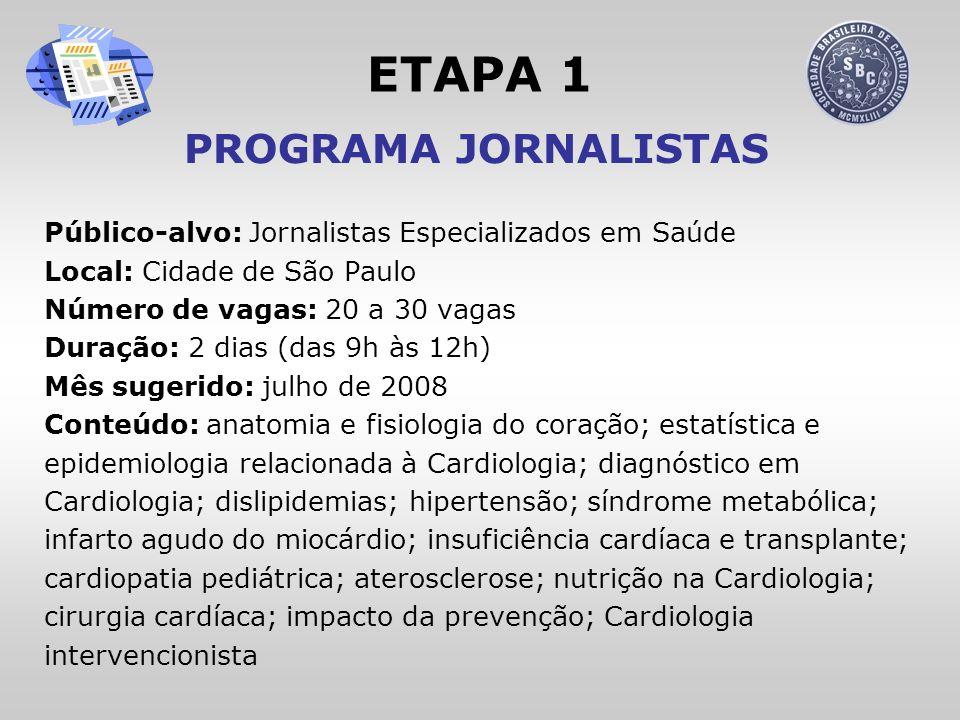 ETAPA 1 PROGRAMA JORNALISTAS