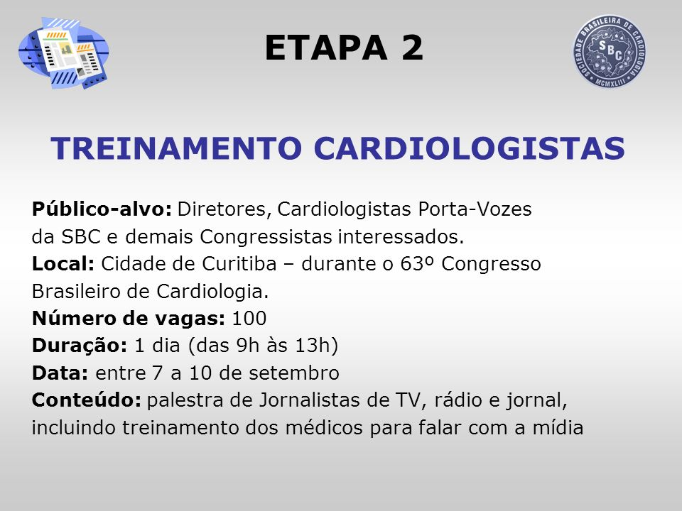 TREINAMENTO CARDIOLOGISTAS