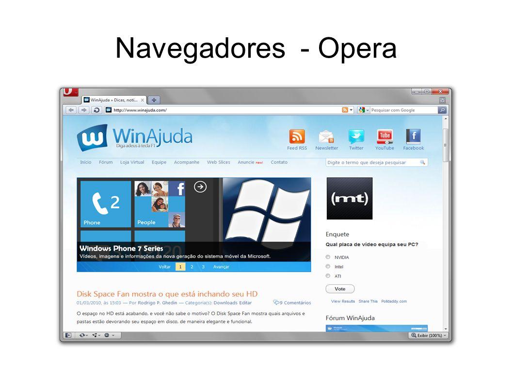 Navegadores - Opera