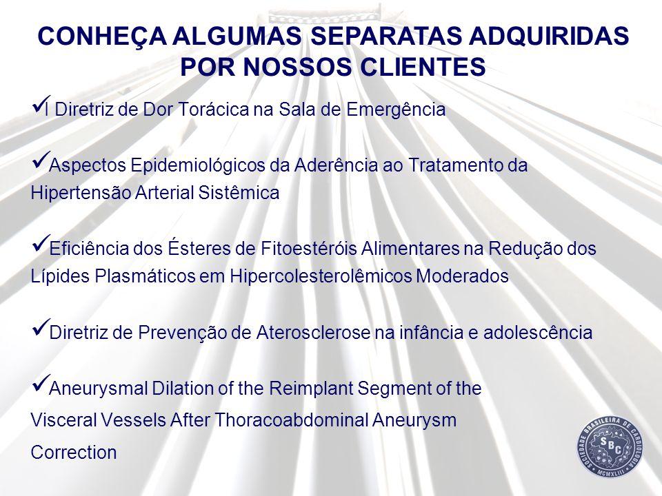 CONHEÇA ALGUMAS SEPARATAS ADQUIRIDAS POR NOSSOS CLIENTES