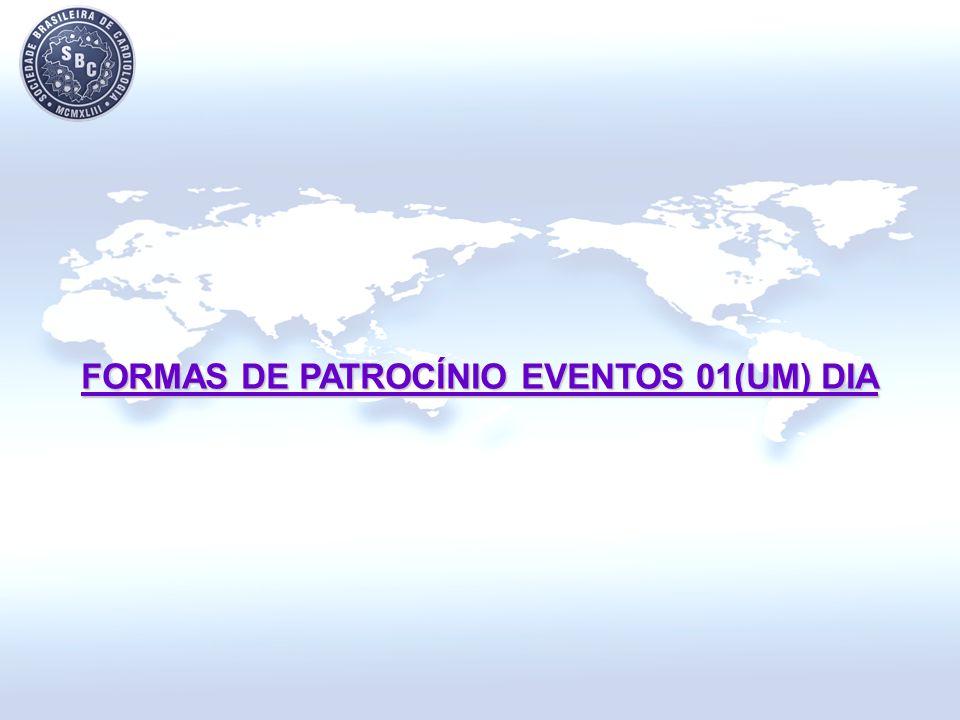 FORMAS DE PATROCÍNIO EVENTOS 01(UM) DIA