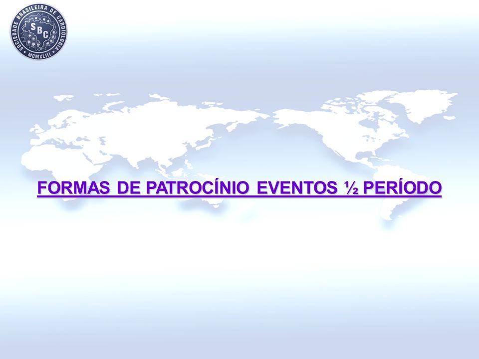 FORMAS DE PATROCÍNIO EVENTOS ½ PERÍODO