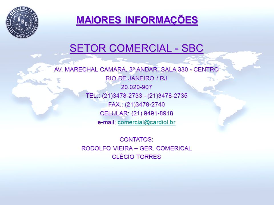 SETOR COMERCIAL - SBC MAIORES INFORMAÇÕES
