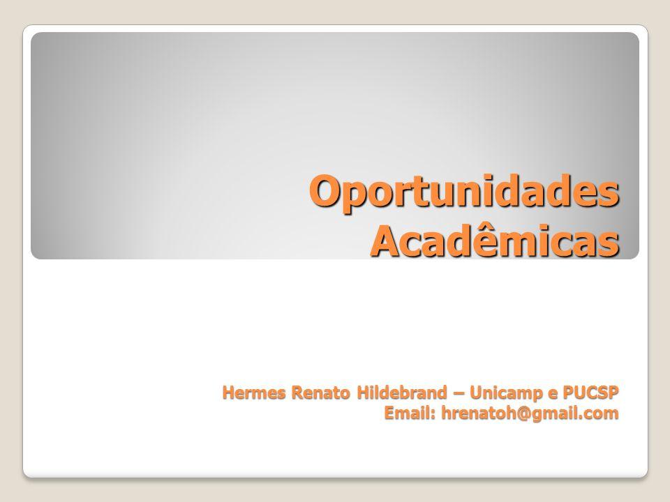 Oportunidades Acadêmicas