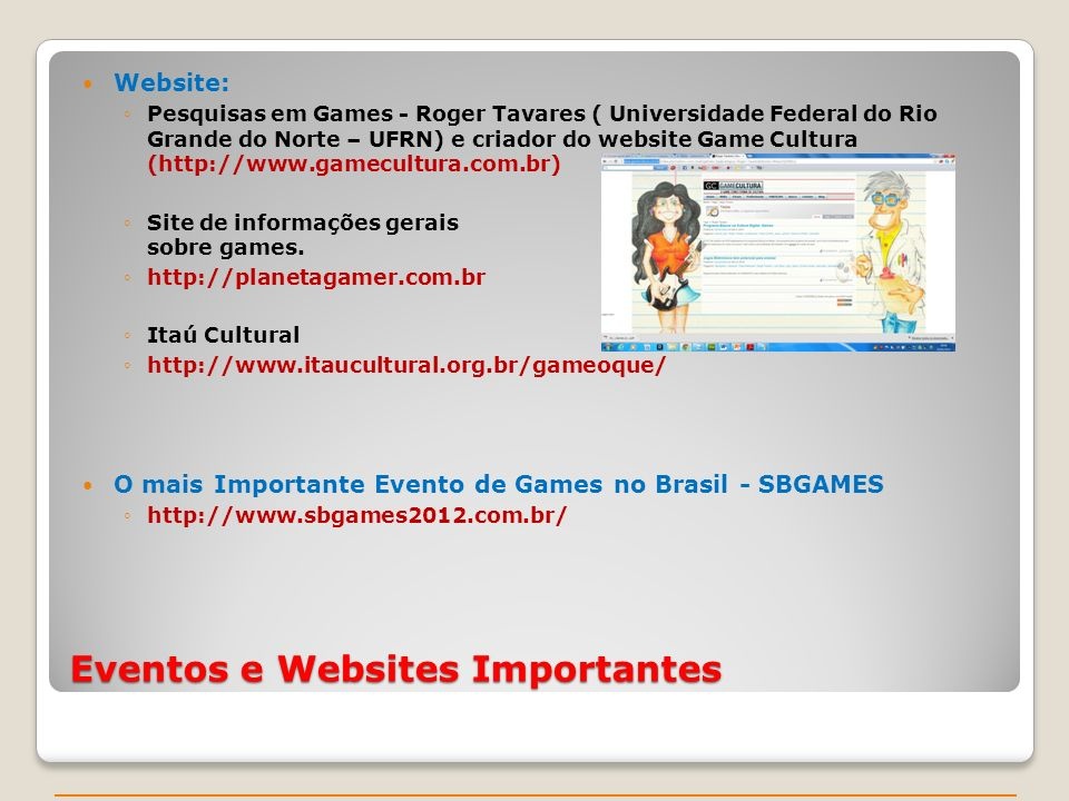 Eventos e Websites Importantes