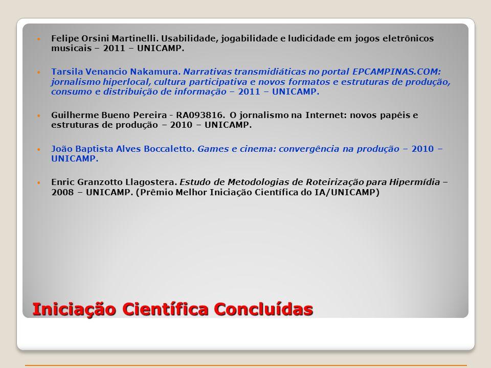 Iniciação Científica Concluídas