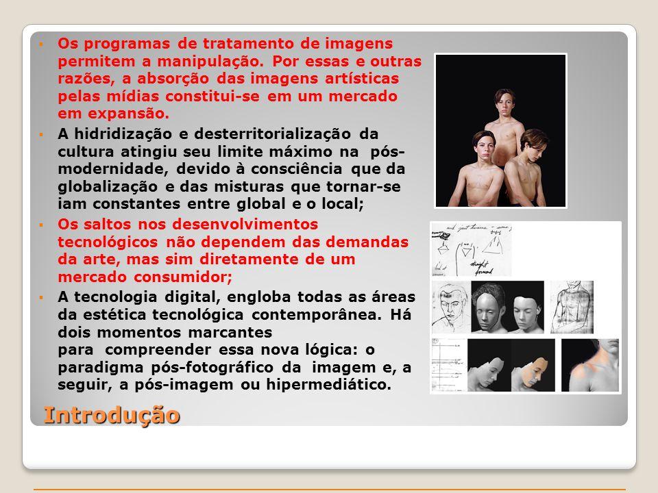 Os programas de tratamento de imagens permitem a manipulação