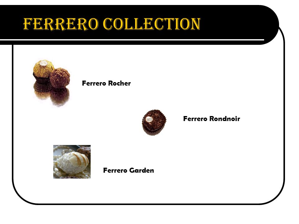 Ferrero Collection Ferrero Rocher Ferrero Rondnoir Ferrero Garden