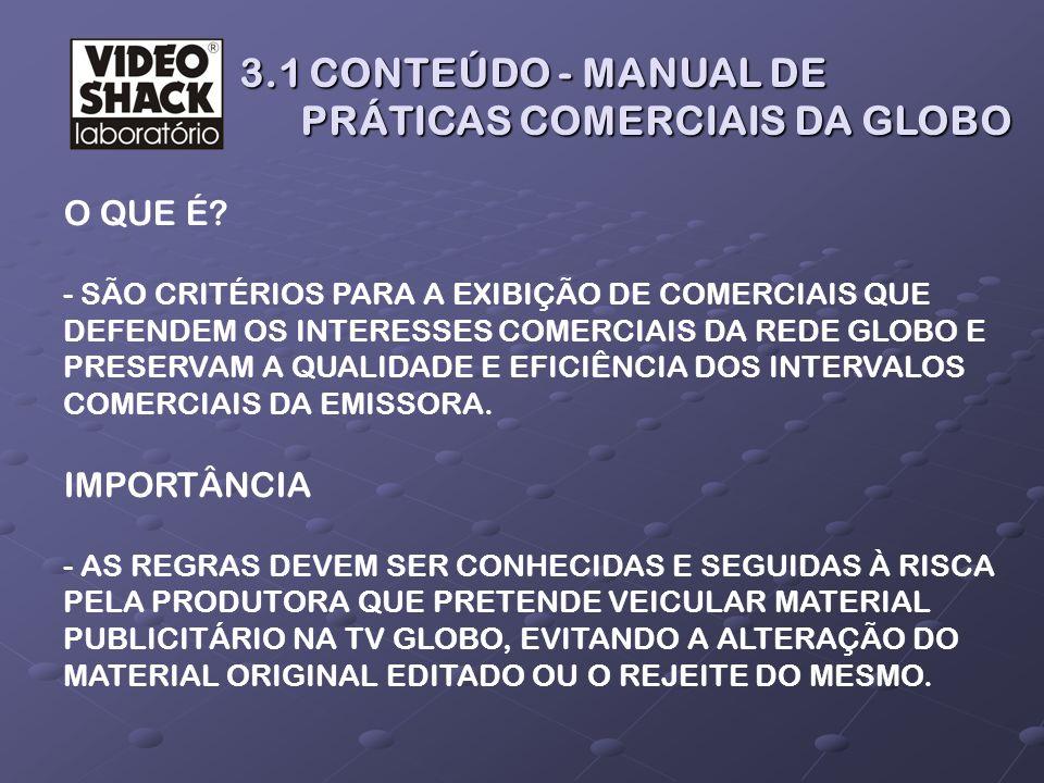 3.1 CONTEÚDO - MANUAL DE PRÁTICAS COMERCIAIS DA GLOBO