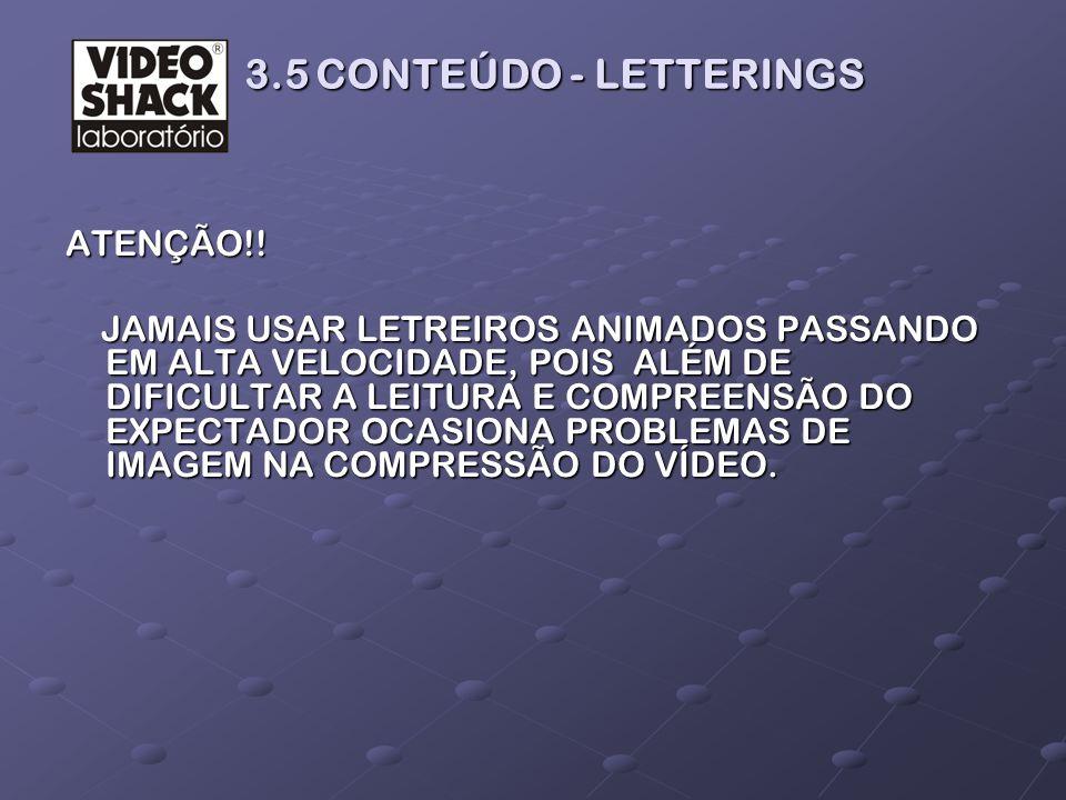 3.5 CONTEÚDO - LETTERINGS ATENÇÃO!!