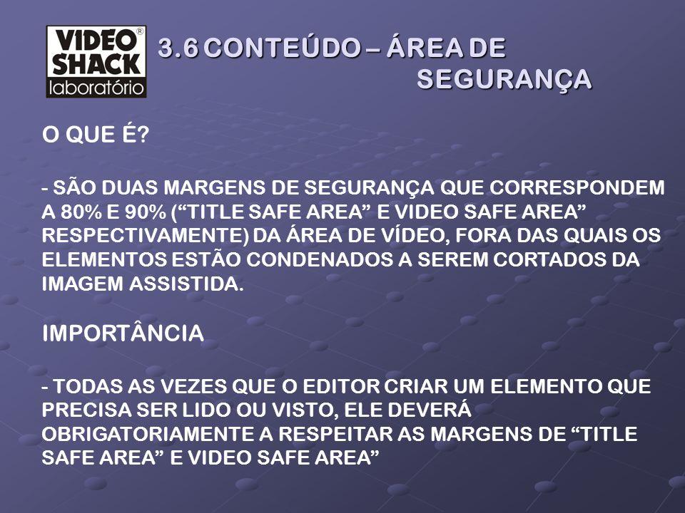 3.6 CONTEÚDO – ÁREA DE SEGURANÇA