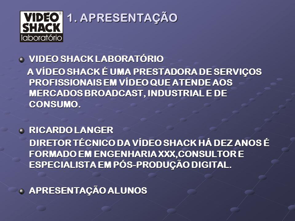 1. APRESENTAÇÃO VIDEO SHACK LABORATÓRIO