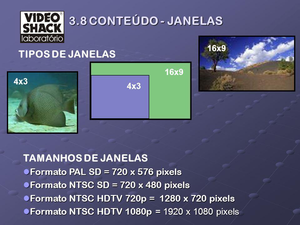 3.8 CONTEÚDO - JANELAS TIPOS DE JANELAS TAMANHOS DE JANELAS