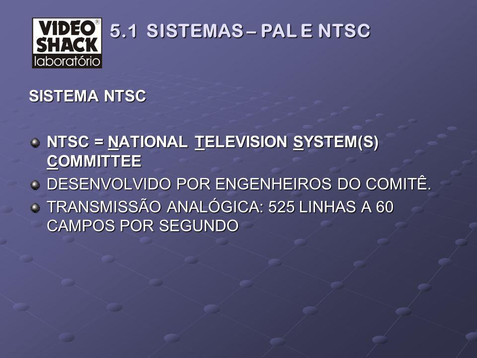 5.1 SISTEMAS – PAL E NTSC SISTEMA NTSC