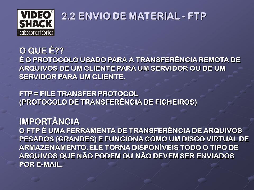2.2 ENVIO DE MATERIAL - FTP O QUE É IMPORTÂNCIA