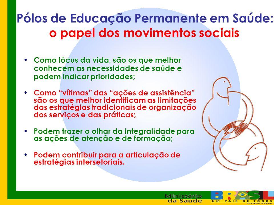 Pólos de Educação Permanente em Saúde: o papel dos movimentos sociais