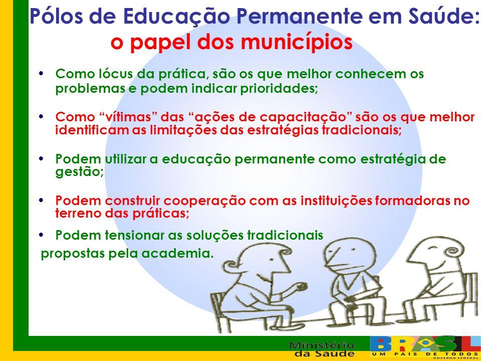 Pólos de Educação Permanente em Saúde: o papel dos municípios