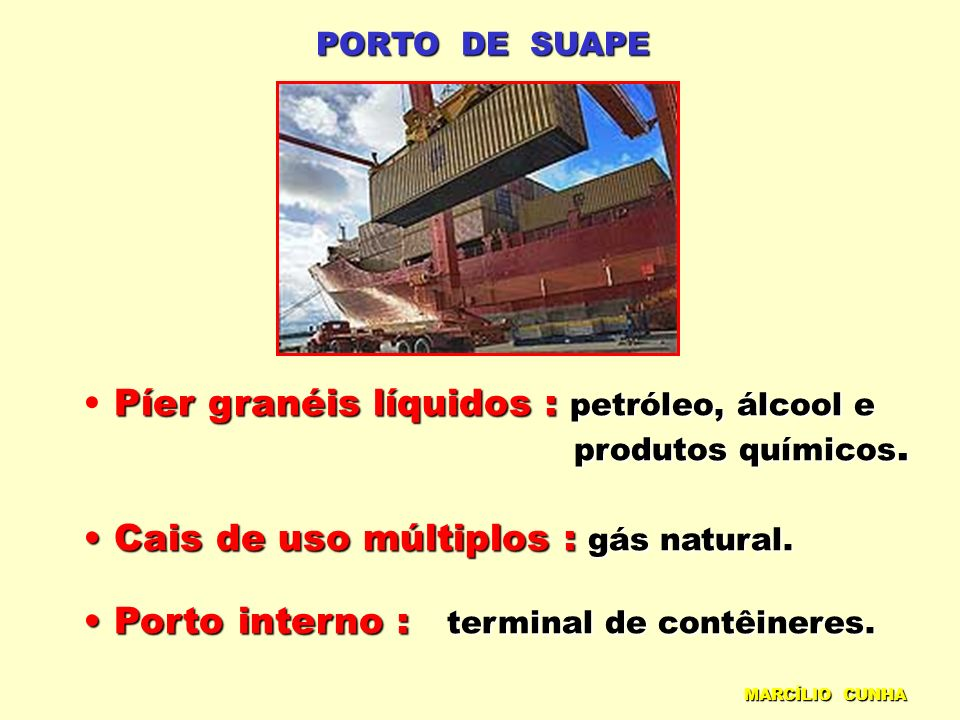 Píer granéis líquidos : petróleo, álcool e
