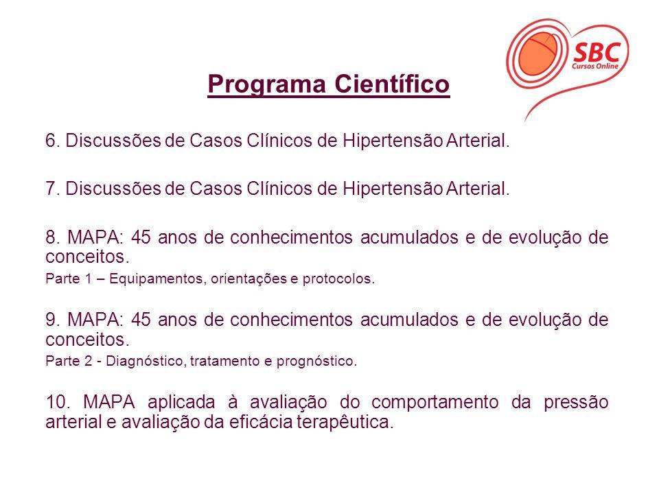 Programa Científico 6. Discussões de Casos Clínicos de Hipertensão Arterial. 7. Discussões de Casos Clínicos de Hipertensão Arterial.