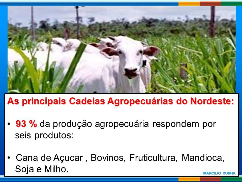 As principais Cadeias Agropecuárias do Nordeste: