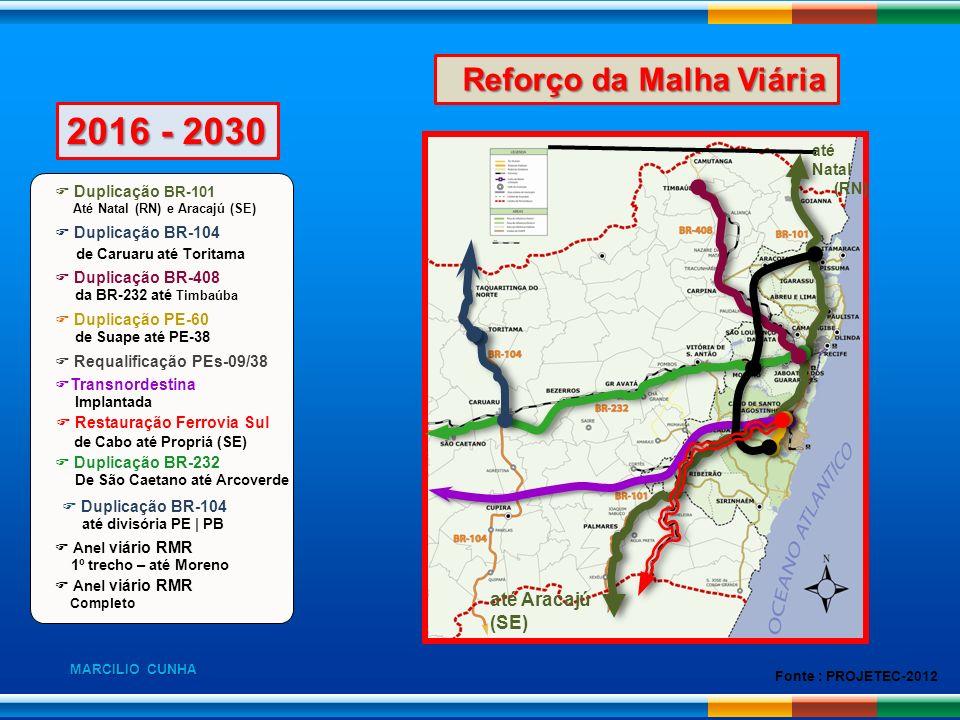 2016 - 2030 Reforço da Malha Viária de Caruaru até Toritama