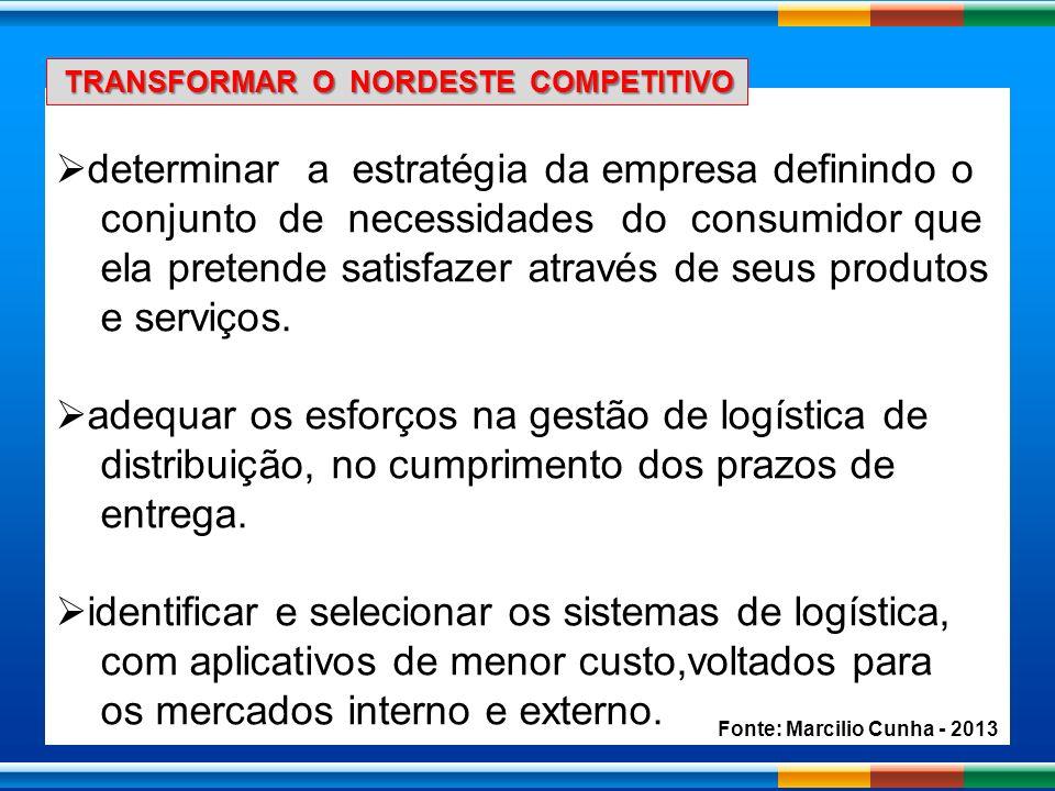 determinar a estratégia da empresa definindo o