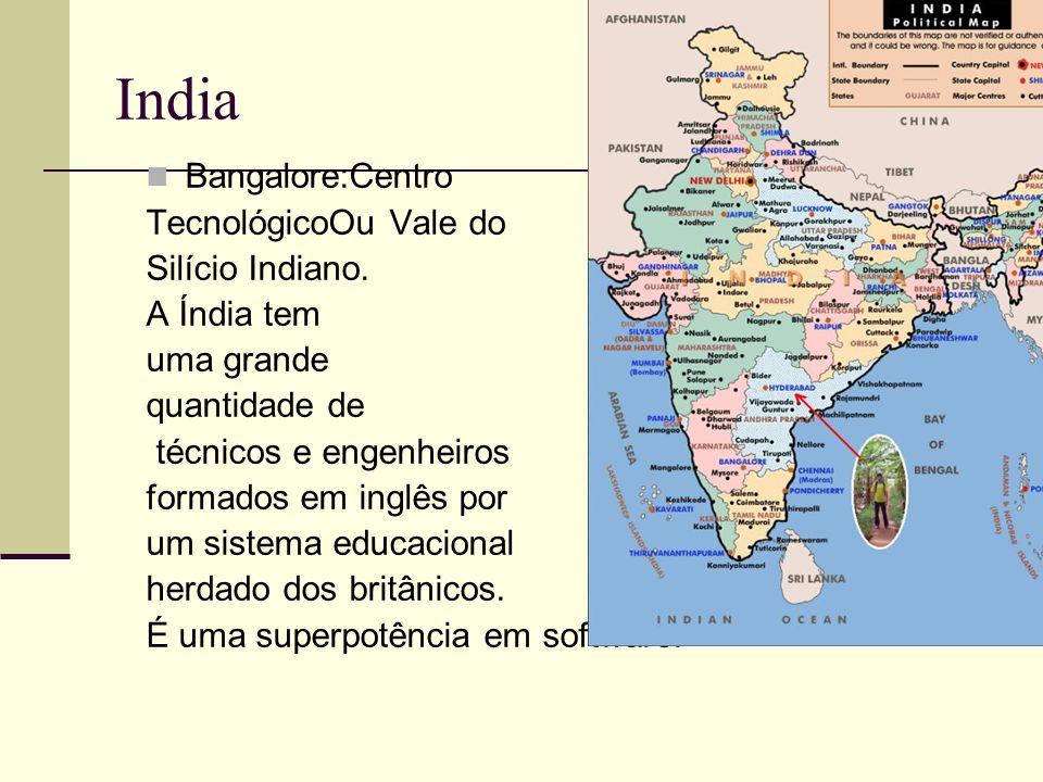 India Bangalore:Centro TecnológicoOu Vale do Silício Indiano.