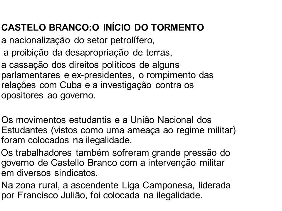 CASTELO BRANCO:O INÍCIO DO TORMENTO