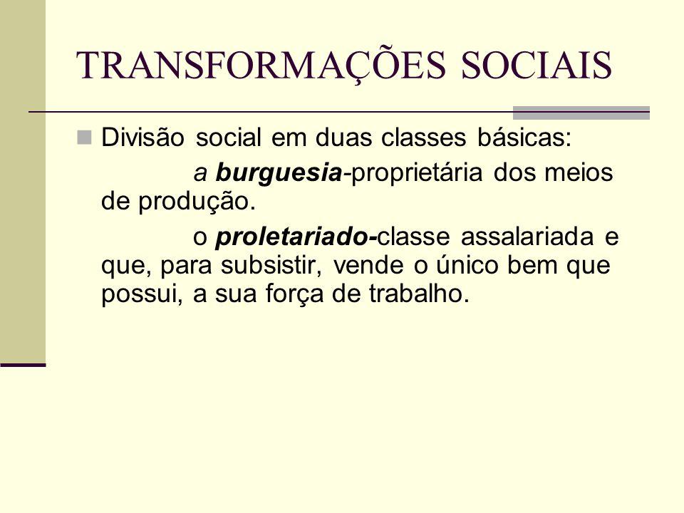 TRANSFORMAÇÕES SOCIAIS