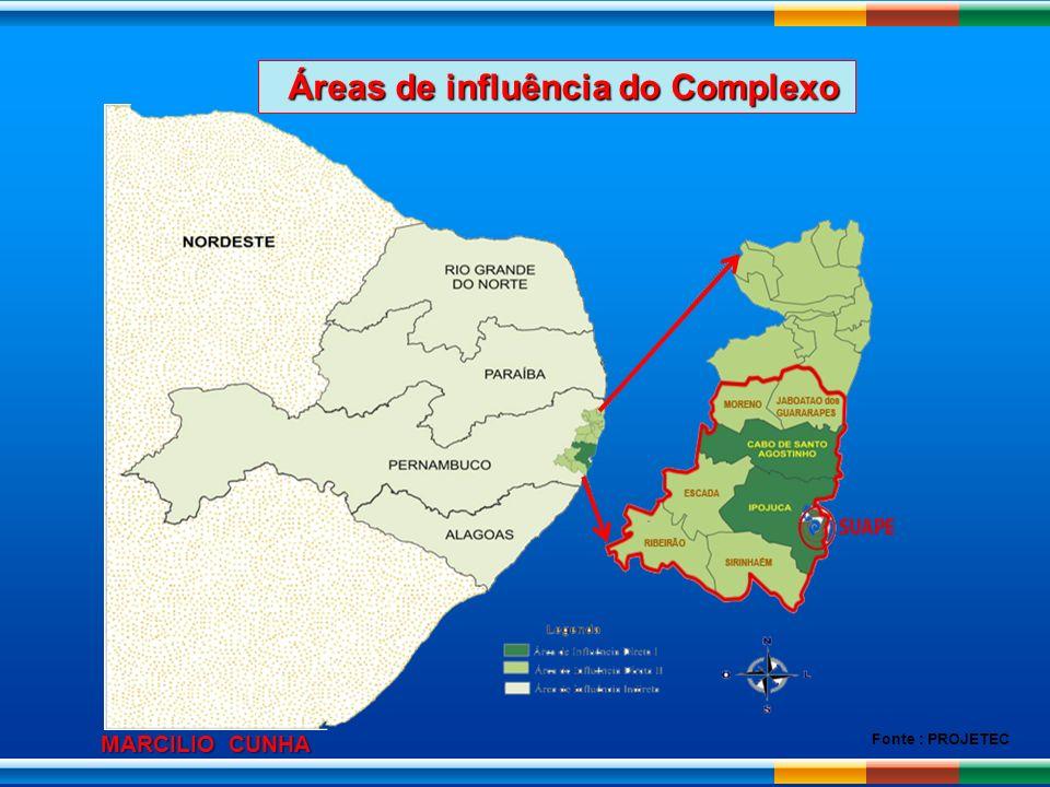 Áreas de influência do Complexo