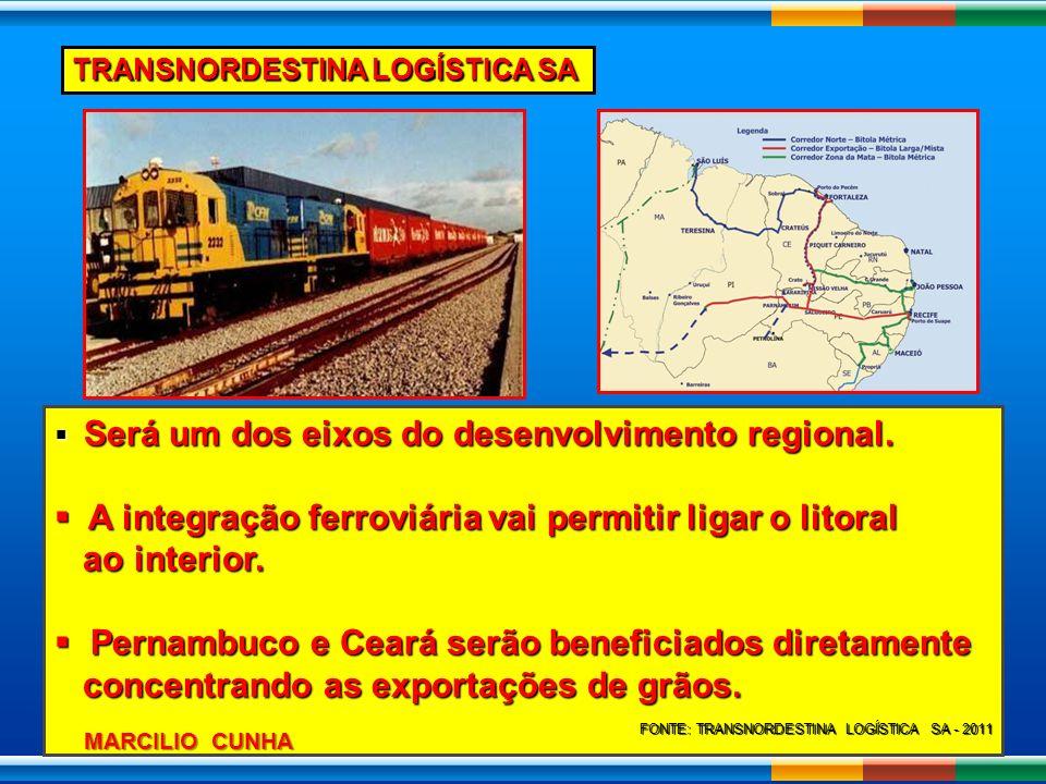 A integração ferroviária vai permitir ligar o litoral ao interior.