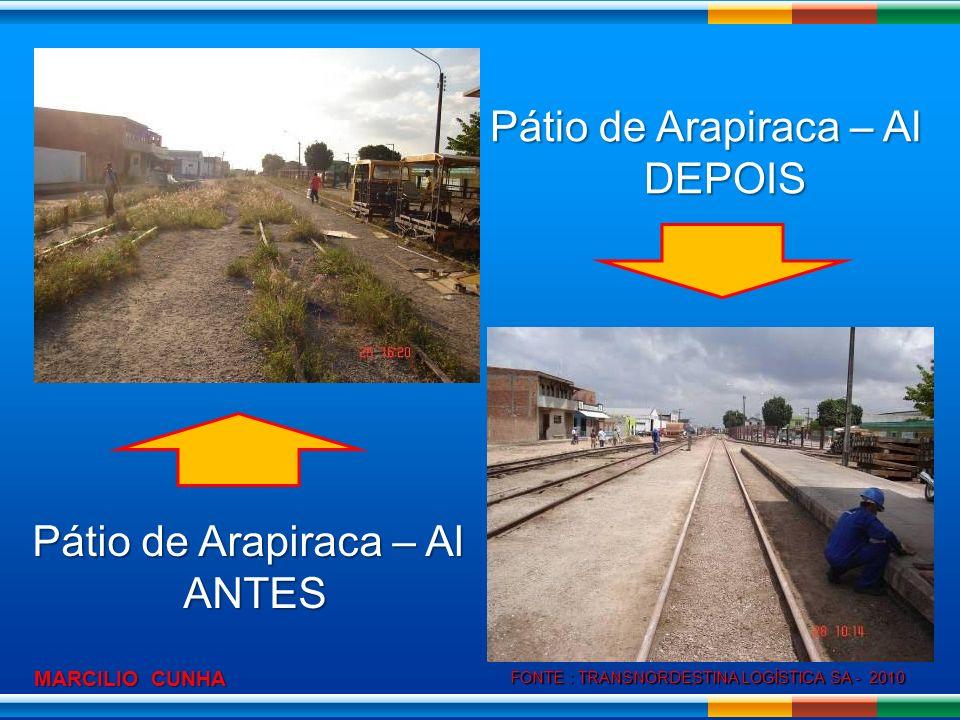 Pátio de Arapiraca – Al DEPOIS Pátio de Arapiraca – Al ANTES