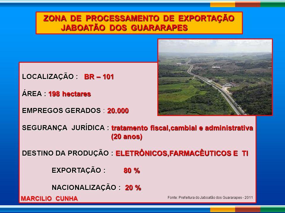 ZONA DE PROCESSAMENTO DE EXPORTAÇÃO JABOATÃO DOS GUARARAPES