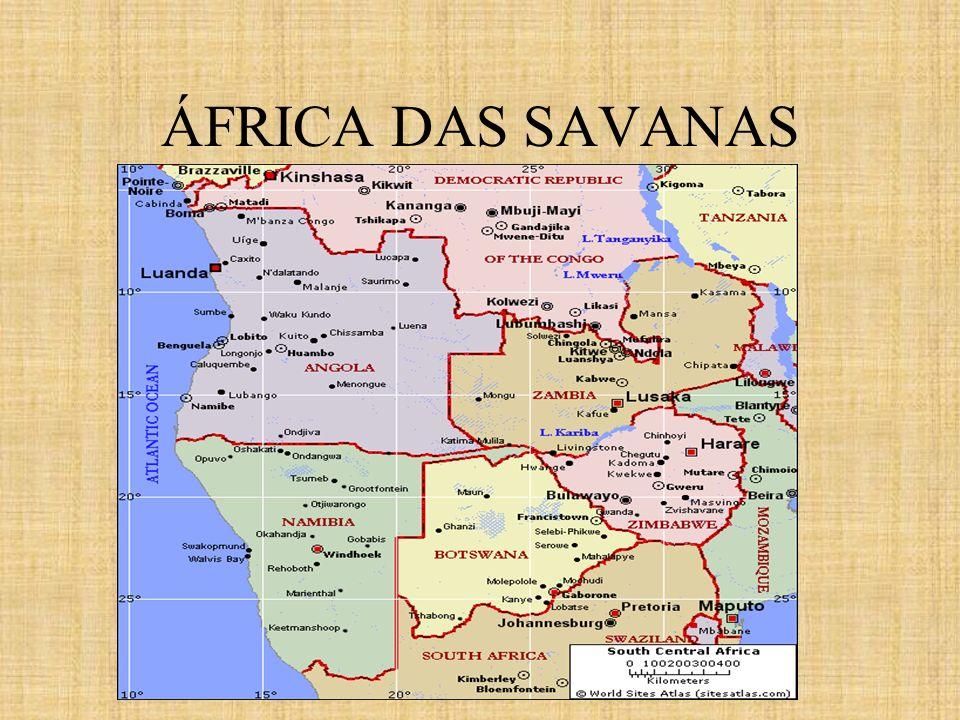 ÁFRICA DAS SAVANAS