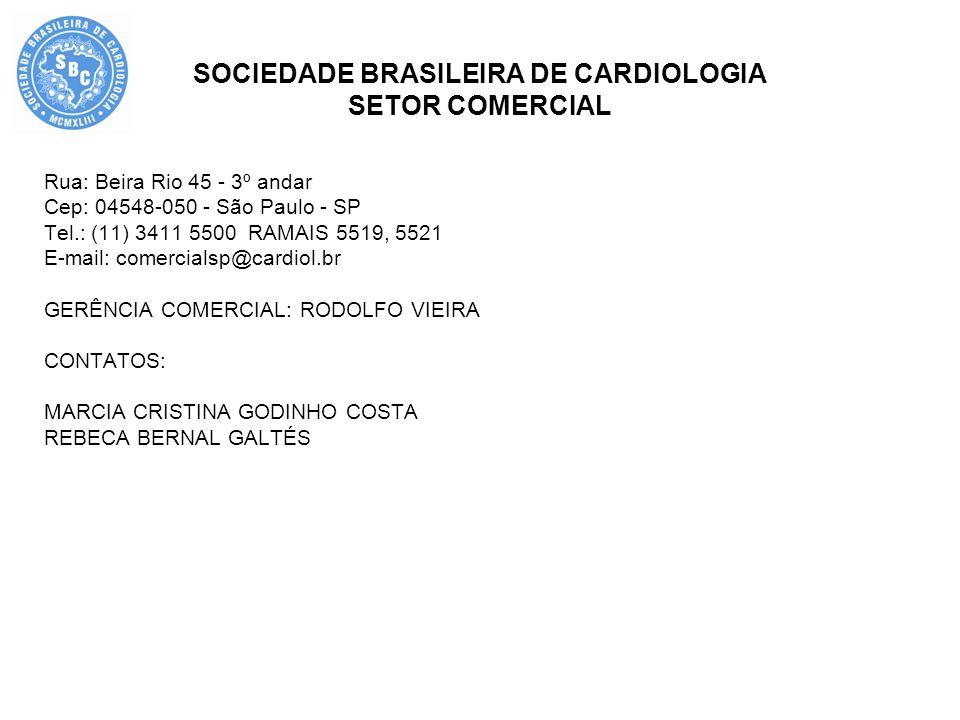 SOCIEDADE BRASILEIRA DE CARDIOLOGIA SETOR COMERCIAL