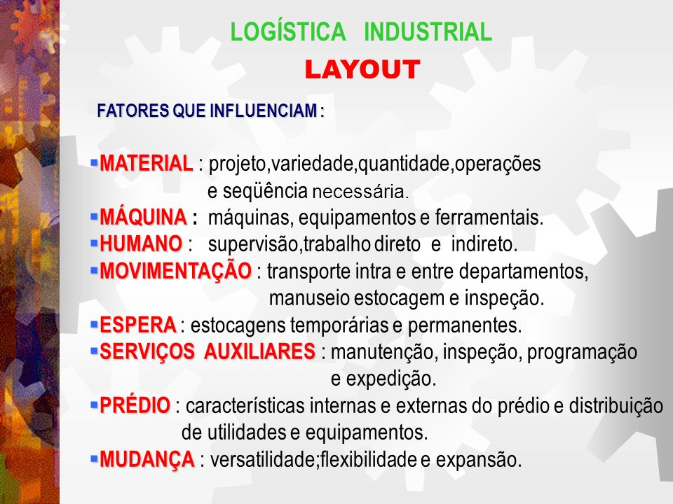 LOGÍSTICA INDUSTRIAL LAYOUT