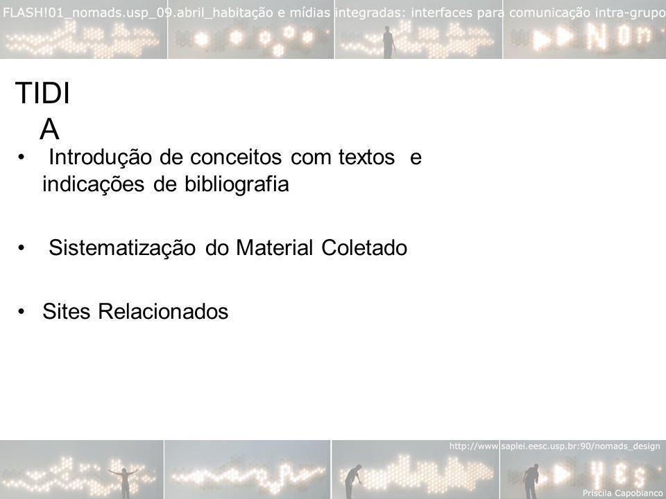 TIDIA Introdução de conceitos com textos e indicações de bibliografia